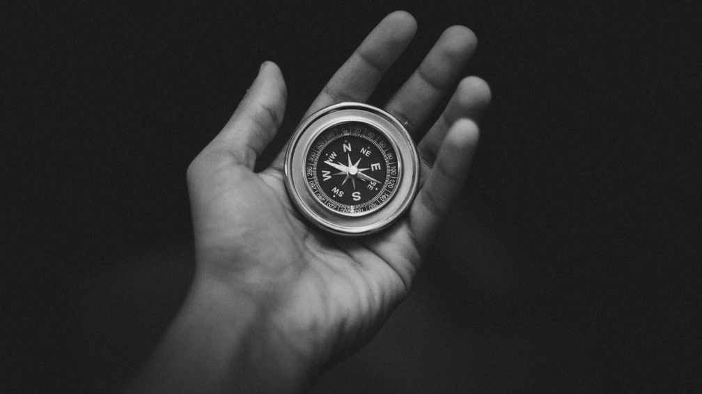 compass on hand